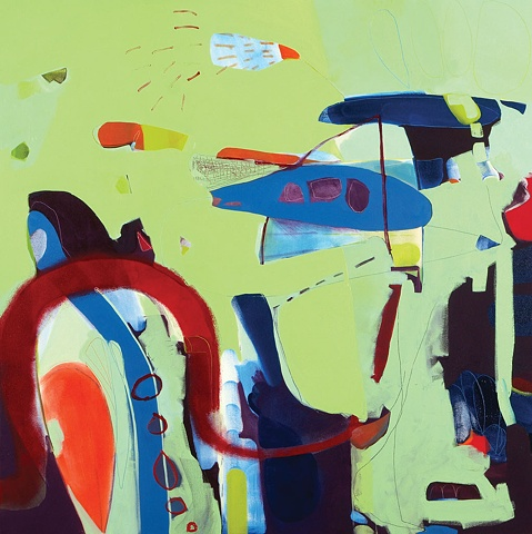 Das Boot oil on canvas Mirana Zuger Painting Abstract Abstraction 2007