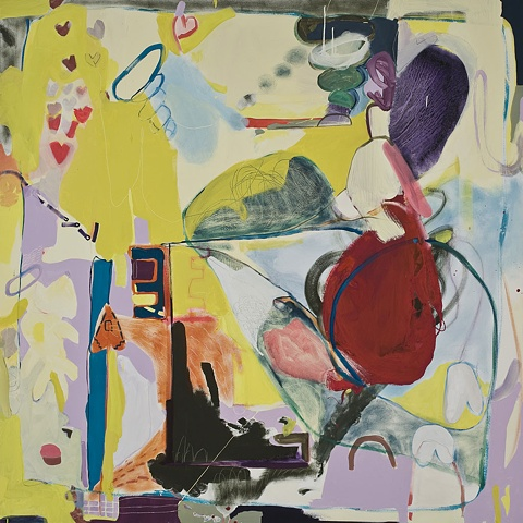 Lea oil on canvas Abstract Painting 2009 Mirana Zuger Abstraction