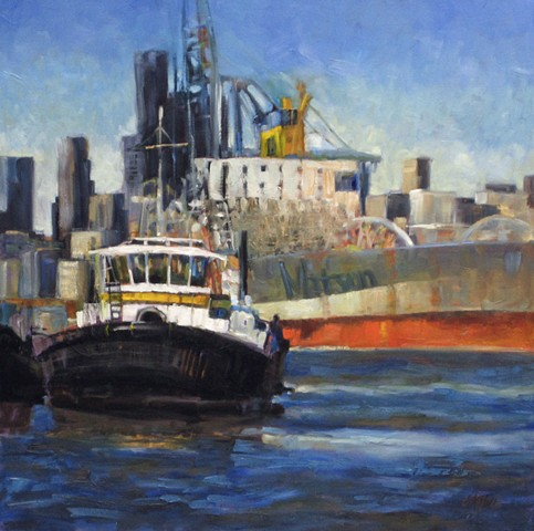 tugboats, harbor, Seattle