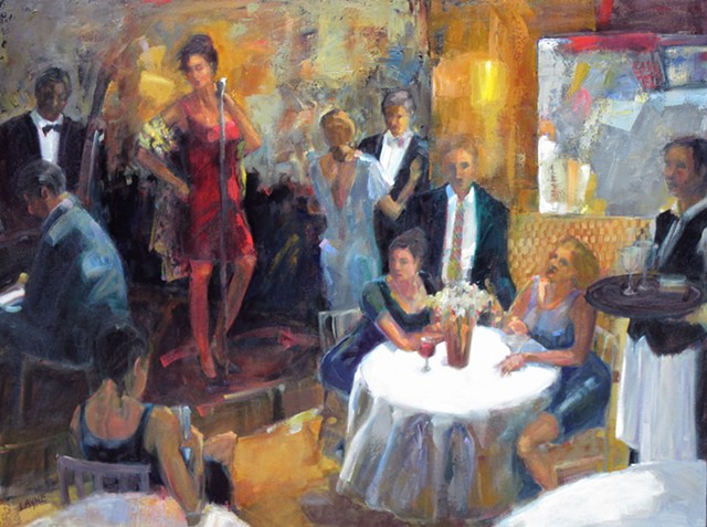 restaurant, jazz club, signer