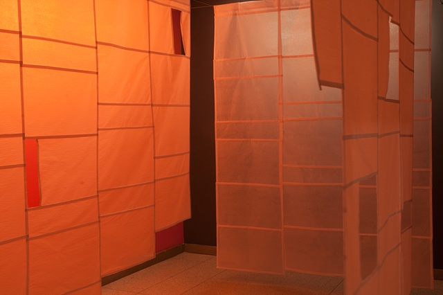 Site-Specific Installation with Tissue Paper and Color Fields