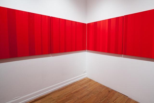 Stillness in Red Horizontal Line