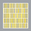"""Permutations in Gray, Yellow and White Size: 80"""" X 80"""" 2011"""