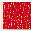 Colored Shapes on Red Color Field Series