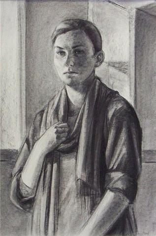 Standing Self Portrait (Stoic)