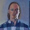 Self Portrait in Blue Plaid