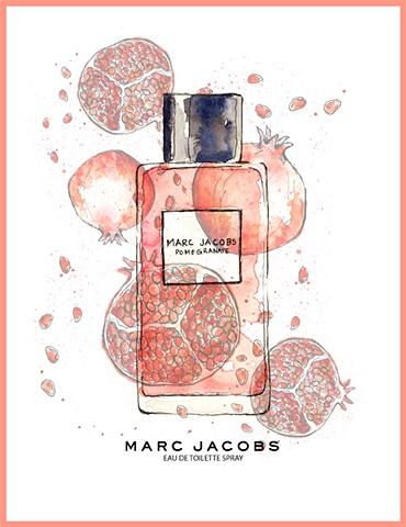 Marc Jacobs Perfume Ad Pomegranate