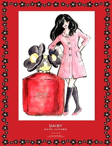 Marc Jacobs Perfume Ad Daisy Pop Art Edition