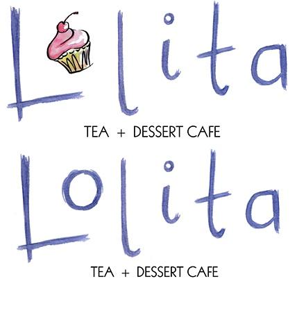 Lolita Cafe Logo Designs