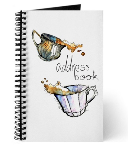 Messy Teacups Address Book Mock-Up