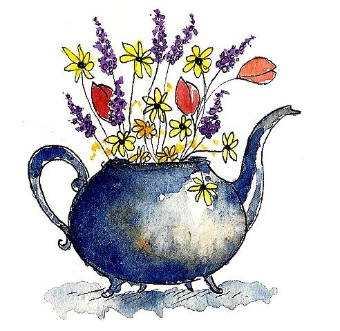 Wildflower Teapot