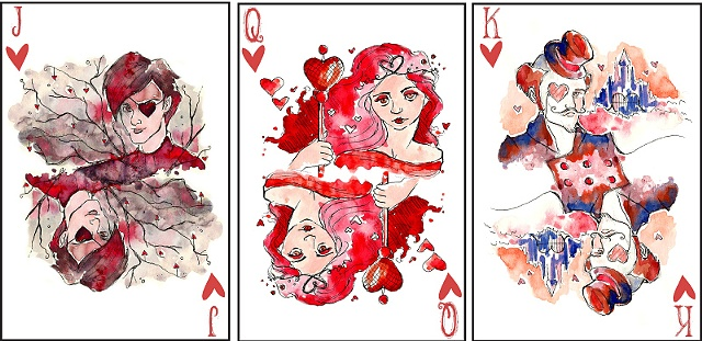 Face Cards Hearts Face Card Illustrations Hearts