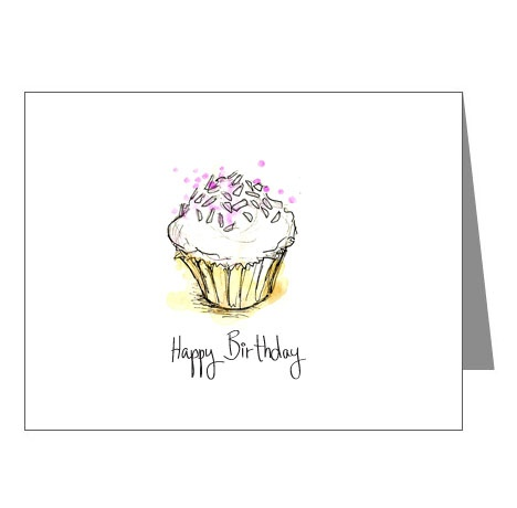 Cupcake Birthday Card Mock-Up 1