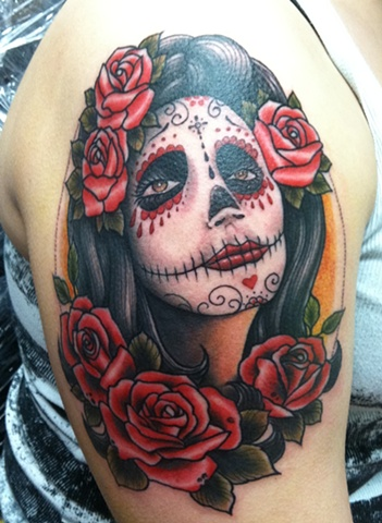 day of dead girl roses