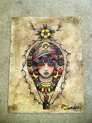 gypsy girl  balloon