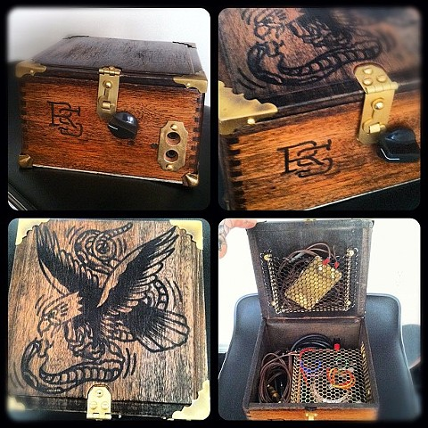Cigar box converted into power supply