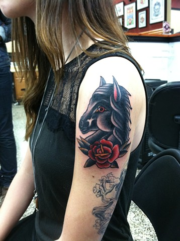 horse rose
