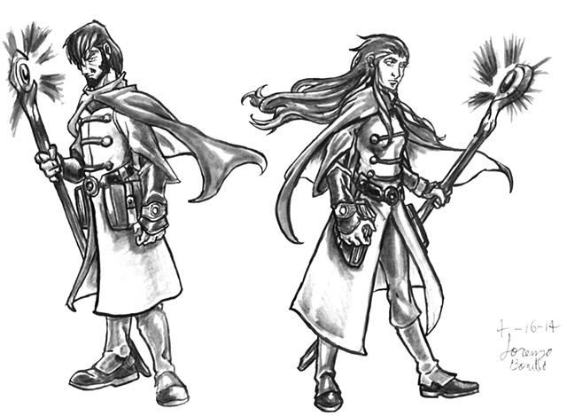 Wizard Class - Male and Female