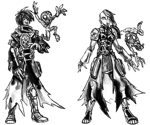 Necromancer Class- Male and Female