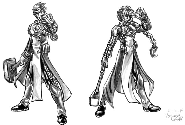 Cleric Class - Male and Female