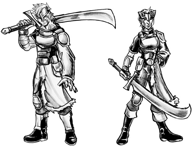 Fighter Class - Male and Female