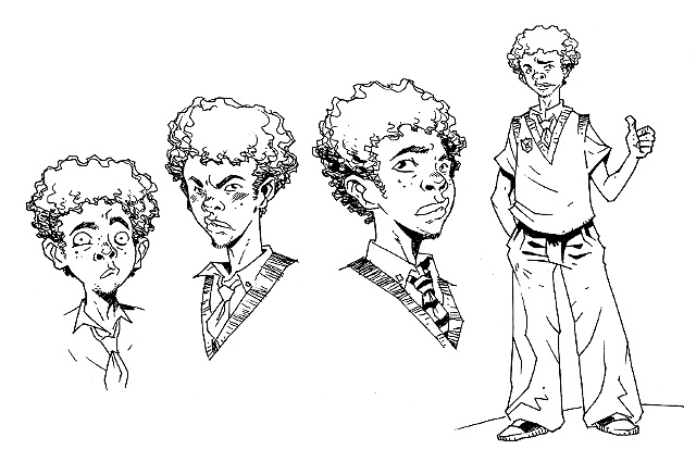 Character design/sample art for graphic novel adaptation / client - Hyperion Books