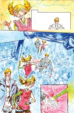 Page from the CBGB & OMFUG comic anthology / client - BOOM! Studios