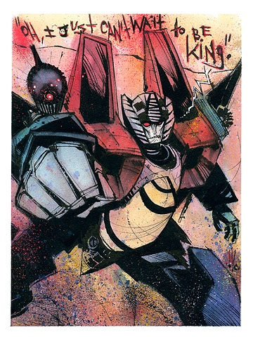 Starscream... Decepticon Commander with mutiny in mind.