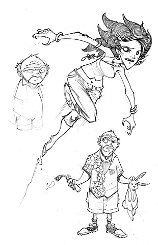Character design for proposed Cartoon Network revamp of The Lost Boys