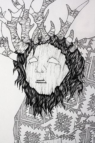 Elk Mask (Detail)