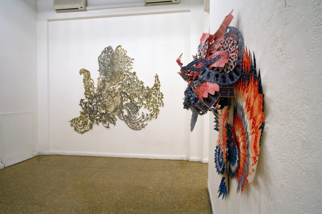 Installation View of Octopus Words and Paper Tiger