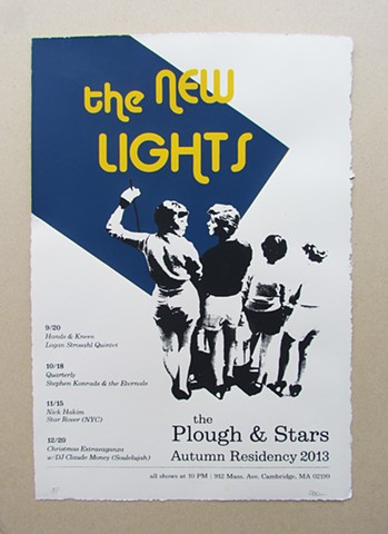 The New Lights Fall Residency poster
