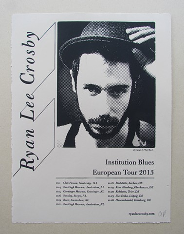 Ryan Lee Crosby European Tour poster