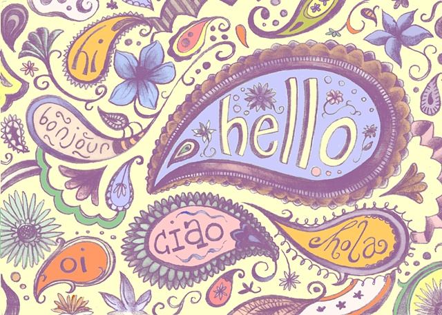 "Just to say ""Hello"" Greeting Card"