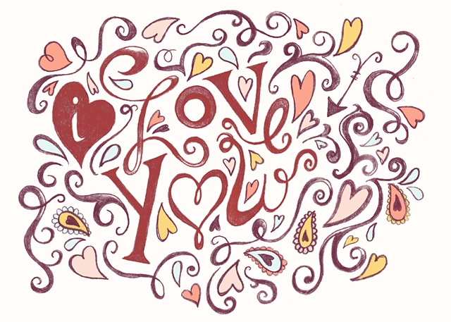 """I Love You"" Greeting Card"