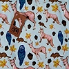 """Woodland Creatures"" in Blue and Pink"