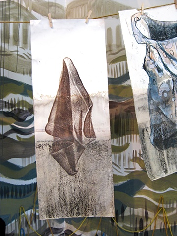 Detail of flood clothesline