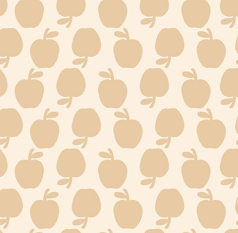 Tan and White Apples