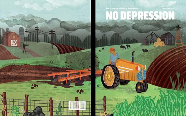Cover for Spring 2017 No Depression magazine