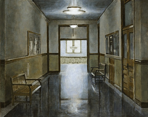 John Martinek Iowa City Painting Schaeffer Hall