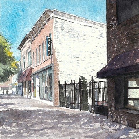 Iowa City watercolor john martinek