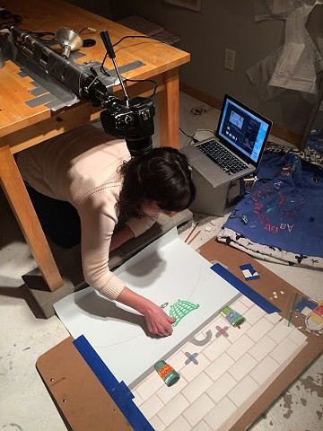 Greta Working on an Animation