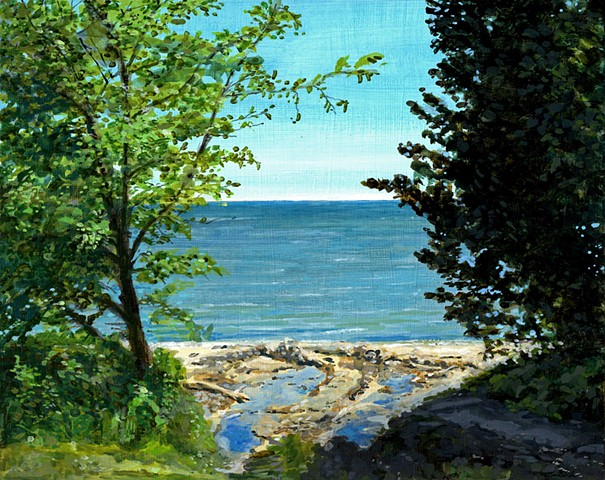 Door County painting near Ellison Bay Wisconsin