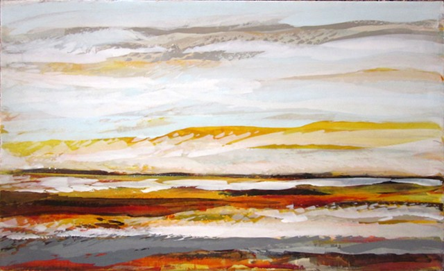 Contemporary Art Abstract landscape painting on canvas