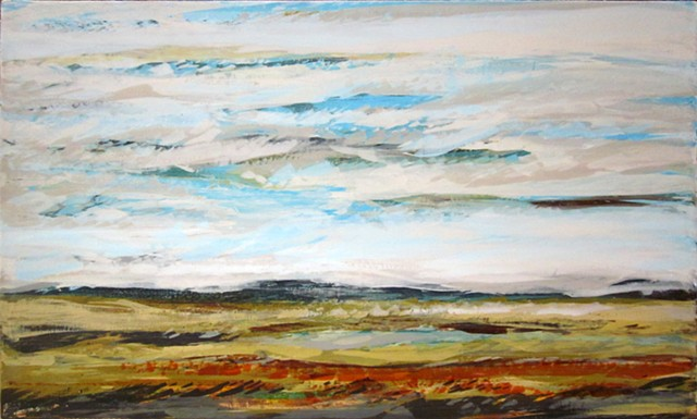Contemporary Art Abstract landscape painting on canvas by Patrick K. Pryor