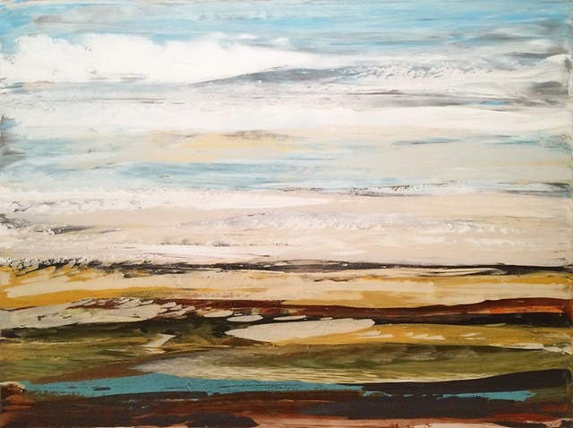 contemporary abstract landscape painting on canvas by Minnesota artist Patrick K. Pryor