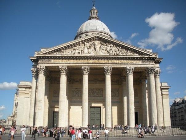 """The Panthéon (Latin: Pantheon,[1] from Greek Pantheon, meaning """"Every god"""")-  Latin Quarter. Paris, France."""