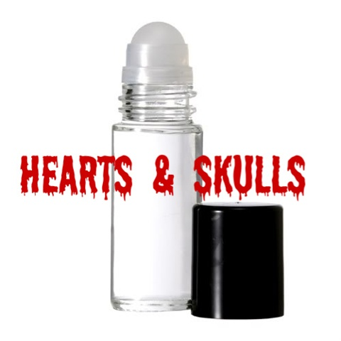 HEARTS & SKULLS Purr-fume oil by KITTY KORVETTE