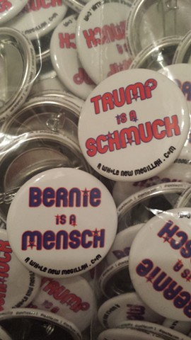 Yiddish Political Pins