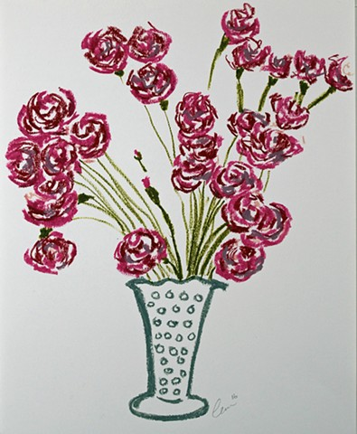 Vase with Red Flowers III